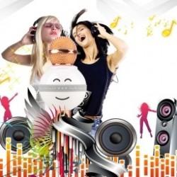 1x Vicces Smile kézi mikrofon HiFi hangszóró KTV  Karaoke Bluetooth Vezeték nélküli WS878
