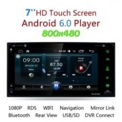 """1db 2 Din 7 """"Dual Core Android 6.0 GPS Navi autós sztereó DVD lejátszó WIFI BT rádió"""