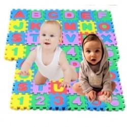36 db Csecsemő gyermekek Alfanumerikus oktatási puzzle blokkok gyermek habszivacs  játékok