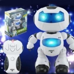 Automatikus távvezérlő fény Zene Dance Robot Gyerekek Oktatás Játékok