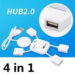 4 portos USB 2.0 nagysebességű hub számítógép Laptop babaalakú fehér
