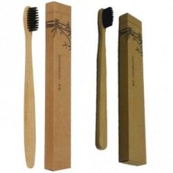 1db Természetes bambusz fogkefe puha sörtés szájápolás fogápolás szájhigénia
