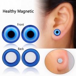 1pár Kék Fekete Egészséges stimuláló akupunktúra Fülbevaló Bio Mágneses terápia Fogyás súlycsökkenés