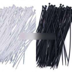 """100db 8 """"3x200mm műanyag fekete gyorskötöző"""