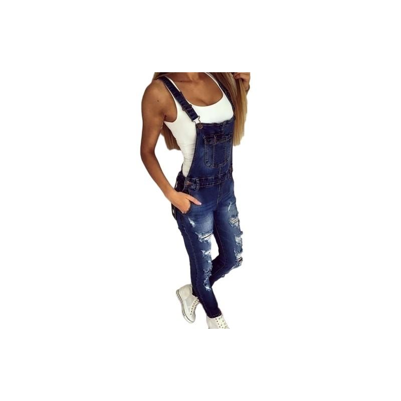 a01cafd651 1 db Divatos Denim hosszú nadrág kantáros hosszú nadrág farmer női szexi  nadrág