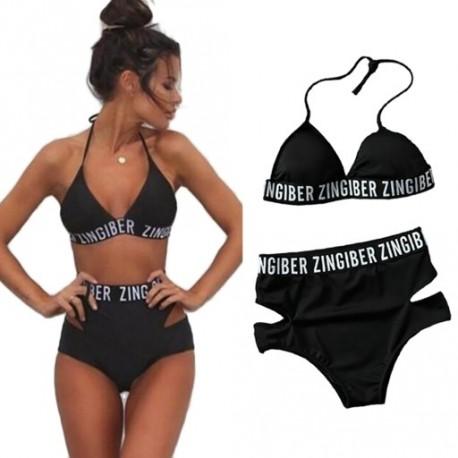 eedf6018b7 2018 Új érkezés női állomás Új szexi fekete kísértés Bikini Fürdőruha Nő