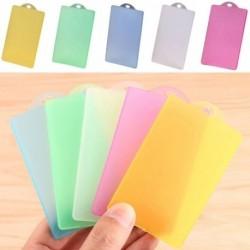 Átlátszó oldalú függőleges műanyag azonosító IC jelvény Műanyag matta tartó kártya tok tokos tartó