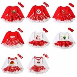 1 db 8 stílus az én első karácsonyi csecsemő kislányok Santa Romper Tutu ruha fejpánt készlet