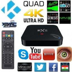MX III Android 4.4 Quad Core Media Player TV BOX