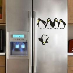 Penguin szórakoztató konyha hűtőszekrény matrica étkező dekoratív falimatrék otthoni dekoráció