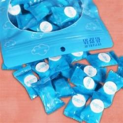 50PCS tömörített törölköző / Magic Wipe puha pamut kibontható Just Add Water Blue