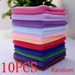 10SPC (Random) - 5 / 10PCS 30 * 70cm pamut szálas puha törlők arc kézi karosszériatisztító tisztítószalag