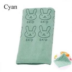 Világoskék - Aranyos Nyúl Baba Fürdő Törölköző Mosogató Fürdőzés Soft Home Infant mosogatószer Nice