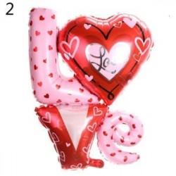 2 - Fólia Balloon Heart Shape Esküvői Engagement Party Anniversary Hélium Dekoráció