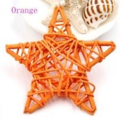 narancs - 10PCS 6CM Lovely Rattan Star Sepak Takraw Születésnapi esküvői dekoráció DIY
