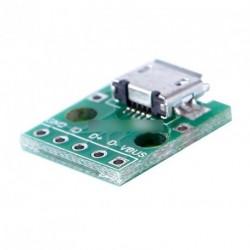 MICRO USB - DIP Adapter 5pin konverter átalakító