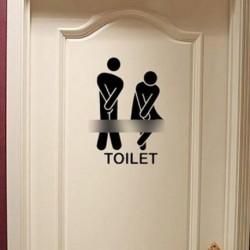 Női férfi Illemhely mosdó wc dekorációs matrica