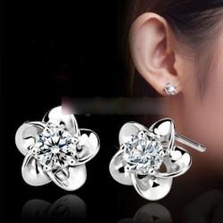 1 Pár kristály virág  fülbevaló