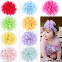 1db Divatos aranyos virág rugalmas baba fejpánt