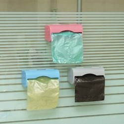 Fürdőszoba műanyag Falra szerelhető Garbage Bag Colorful Kitchen tároló konténer