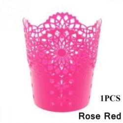 Rose Red-1PCS - 1 / 5PCS sminkkefetartó tolltartó edénytároló Hollow Flower csipke