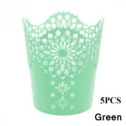 Green-5db - 1 / 5PCS sminkkefetartó tolltartó edénytároló Hollow Flower csipke