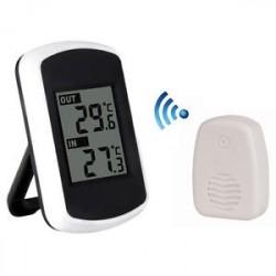 Új digitális LCD vezeték nélküli hőmérő időjárásjelző beltéri kültéri érzékelővel