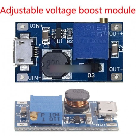2A Booster DC-DC Step-up modul 2 / 24V 5/9/12 /28V