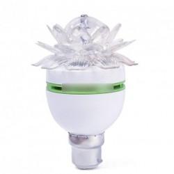 Színes Lotus Flower 3W B22 LED Auto Forgó izzó
