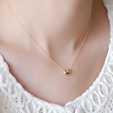 Női Divatos Aranyozott Szív  medál nyaklánc