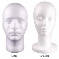 Férfi vagy Női hungarocell  próba bábu Fej modell