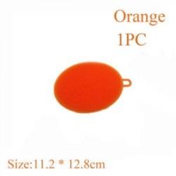 Narancs (1 db) - Szilikon tisztító kefe Konyhai súroló tálca edénytál tálas mosogató szivacsok