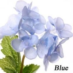 kék - 3db Minőség Selyem Hortenzia Otthoni Párt Decor Fake Bouquet Művirág