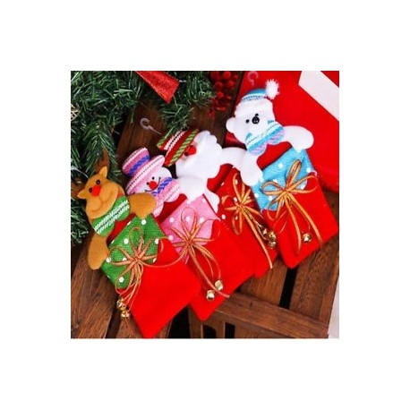 Karácsony Santa Ajándék Táskák Díszek Fesztivál Party Xmas Tree Hanging Decorations