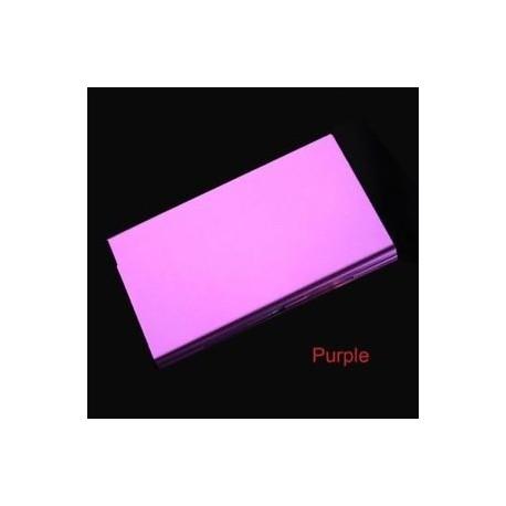 lila - Vékony ajándékdoboz Fém cigaretta tok 20 matrica Zsebméretű alumínium ötvözet