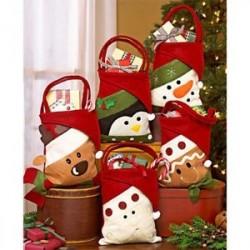 Karácsony Mikulás / Hóember / Elk Candy Bag táska Aranyos Kids Ajándék Xmas Decor