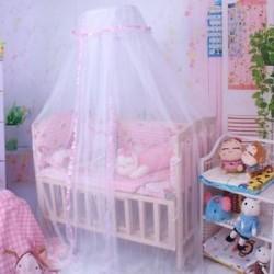 Rózsaszín - Dome ágy függöny Baba ágytakaró Háló ágy Crib Hálós Gyerek hálószoba Mosquito hálós sátor