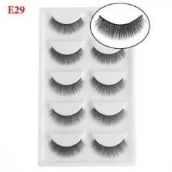 E29 - SKONHED 5 páros 3D Mink Hair False szempilla természetes Long Wispy Eye Smink Tool